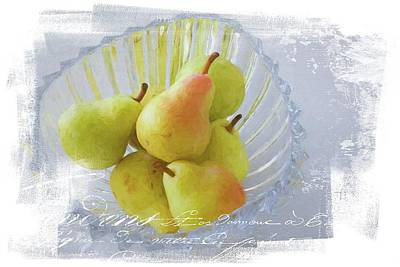 Photograph - Pears In A Bowl by Alice Gipson