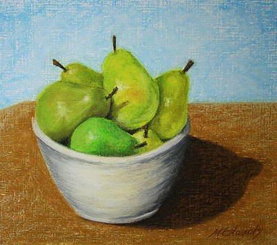 Painting - Pears In Bowl 2 by Marna Edwards Flavell
