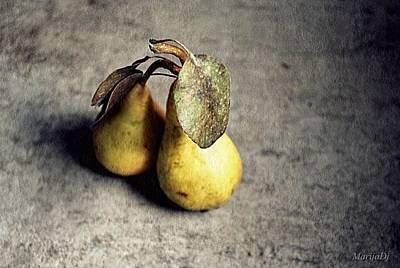 Photograph - Pears In Pair by Marija Djedovic
