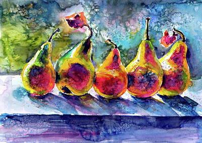 Painting - Pears by Kovacs Anna Brigitta