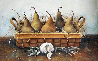 Painting - Pears by Mikhail Zarovny