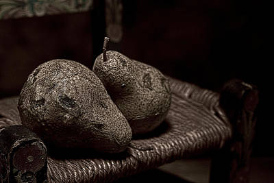 Closeup Photograph - Pears On A Chair I by Tom Mc Nemar