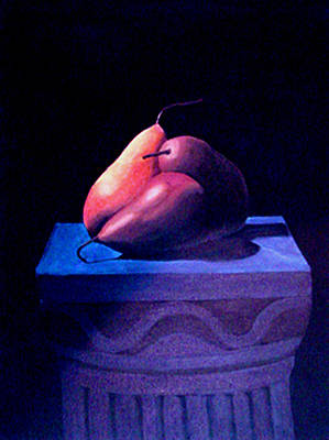 Painting - Pears On A Pedestal by JoeRay Kelley