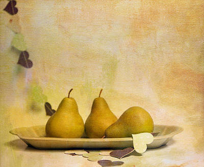 Photograph - Pears by Rebecca Cozart