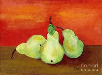 Pears Still Life Art Print by Ann Gordon