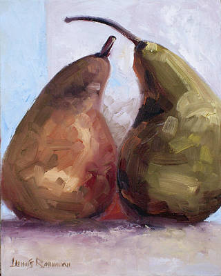 Painting - Pears Two by Lewis Bowman
