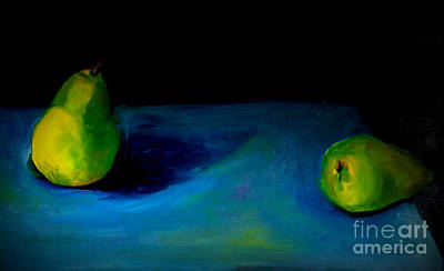 Art Print featuring the painting Pears Unpaired by Daun Soden-Greene