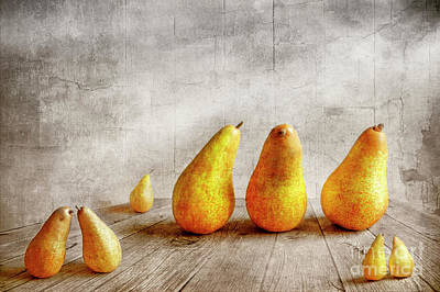 Golden Digital Art - Pears by Veikko Suikkanen