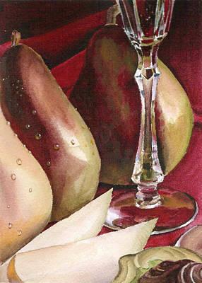 Painting - Pears Wine And Chocolate by Irina Sztukowski