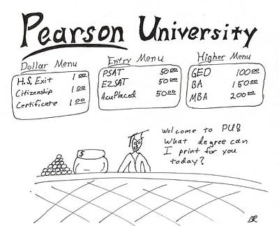 Drawing - Pearson University by David S Reynolds