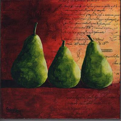 Painting - Peary Tale by Cindy Johnston