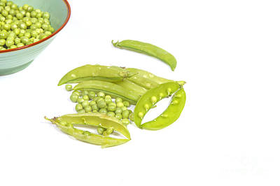 Unbuttoned Photograph - Peas And Pods by Patricia Hofmeester
