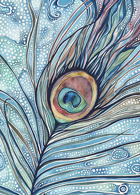 Peacock Painting - Pea's Feather by Tamara Phillips
