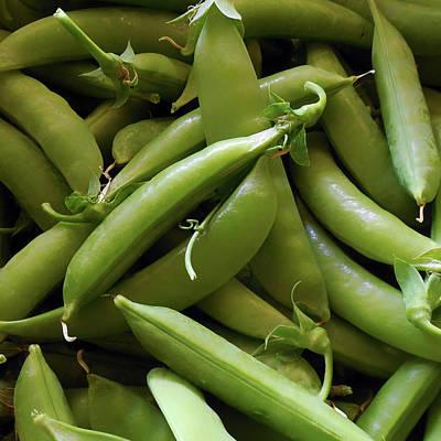Digital Art - Peas - Fresh Pods Of Snap Peas by Leslie Montgomery