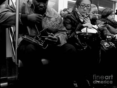 Photograph - Peas In A Pod - Subways Of New York by Miriam Danar