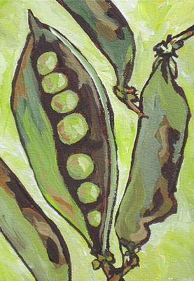 Painting - Peas by Sandy Tracey