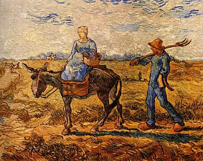Morning After Painting - Peasant Couple Going To Work After Jean Francois by MotionAge Designs