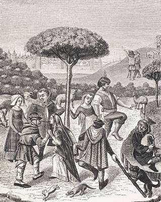 Peasant Dances Of The May Feasts. After Art Print by Vintage Design Pics