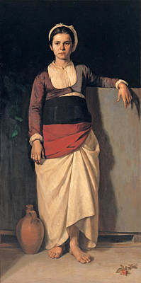 Painting - Peasant Girl by Nikolaos Vokos