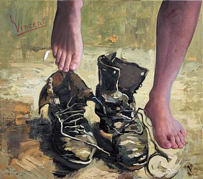 Painting - Peasant Shoes My Foot by Richard Barone