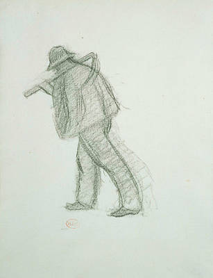 Drawing - Peasant With Scythe  by Henri-Edmond Cross