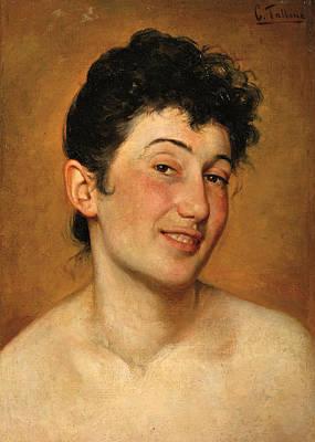 Bergamo Painting - Peasant Woman From Bergamo by Cesare Tallone