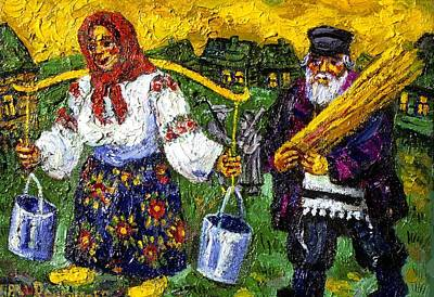 Painting - Peasants At Work by Ari Roussimoff