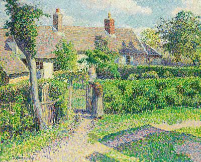 Peasants' Houses, Eragny Art Print