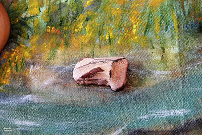 Selling Buying Online Photograph - Pebble At The Stream by Augusta Stylianou