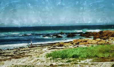 Mixed Media - Pebble Beach Beach by Joseph Hollingsworth
