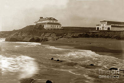 Photograph - Pebble Beach, Loren Coburn Pebble Beach Hotel This View Looking  by California Views Mr Pat Hathaway Archives
