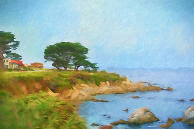 Painting - Pebble Beach by Lutz Baar