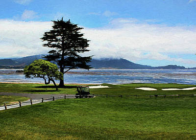 Photograph - Pebble Beach Oil Painting by Judy Vincent