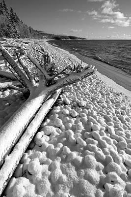 Pebble Beach Winter Art Print