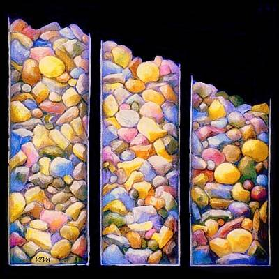 Painting - Pebble Dash by VIVA Anderson