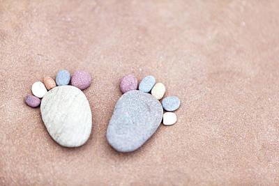 Whimsical Beach Wall Art - Photograph - Pebble Feet by Anita Nicholson