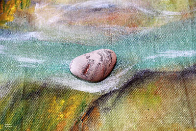 Photograph - Pebble At The Stream by Augusta Stylianou