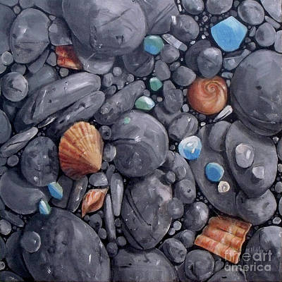 Painting - Pebble Soft Moments 1 by Mary Hubley