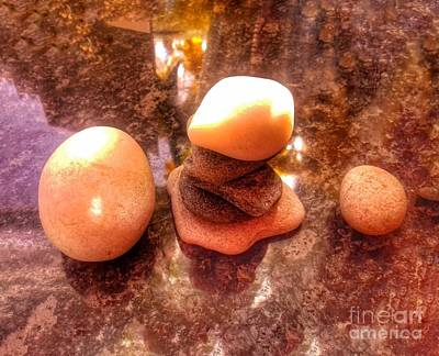 Photograph - Pebble Stack by Joan-Violet Stretch