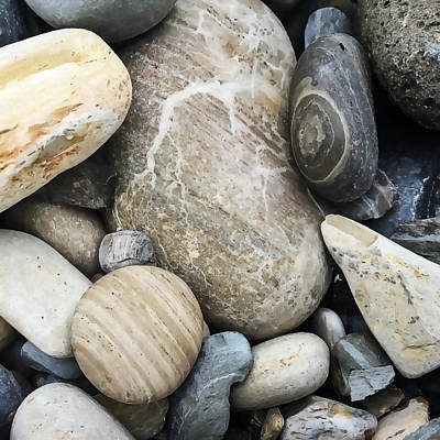 Speckled Granite Photograph - Pebbles And Rocks by Art Block Collections