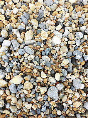 Photograph - Pebbles Background Image  by Tom Gowanlock