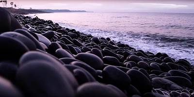 Photograph - Pebbles On A Background Of Beach 1 by Jean Francois Gil