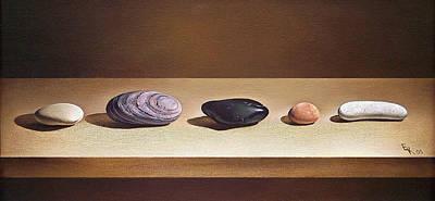 Painting - Pebbles On Parade by Elena Kolotusha