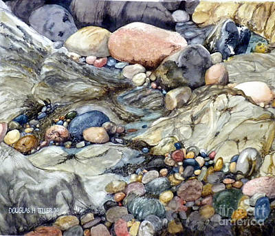 Painting - Pebblescape by Douglas Teller