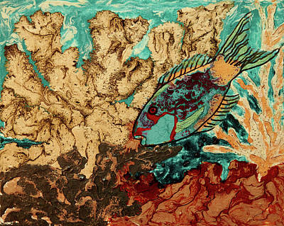 Painting - Pebeo Parrotfish 2 by Patricia Beebe
