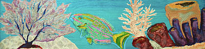 Painting - Pebeo Parrotfish by Patricia Beebe