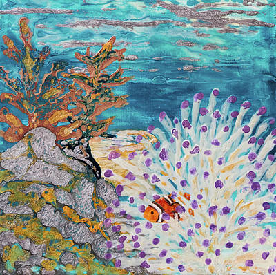 Painting - Pebeo Shy Clown by Patricia Beebe