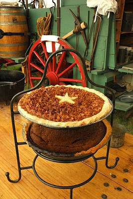 Chuck Wagon Photograph - Pecan Pie Cooling by Robert Anschutz
