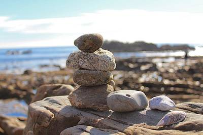 Photograph - Peceful Zen Rocks by Brian Eberly