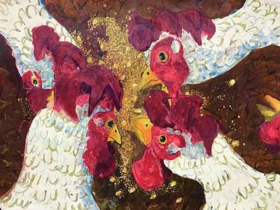 Painting - Pecking Order by Jame Hayes